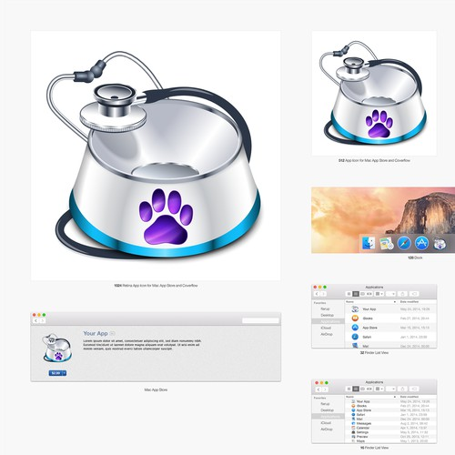 """Pet Logger""  macOS app icon design"