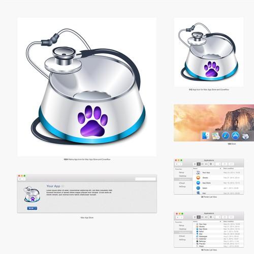 """Pet Logger""  macOS app icon design"