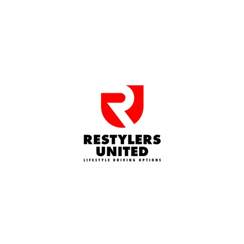 Dynamic and strong logo for Restylers United