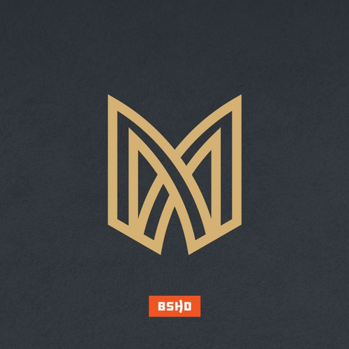 Design a hypermodern logo for a luxury home builder