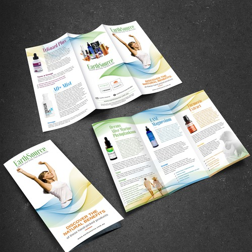 High quality health supplement website needs compelling new brochure to showcase key products