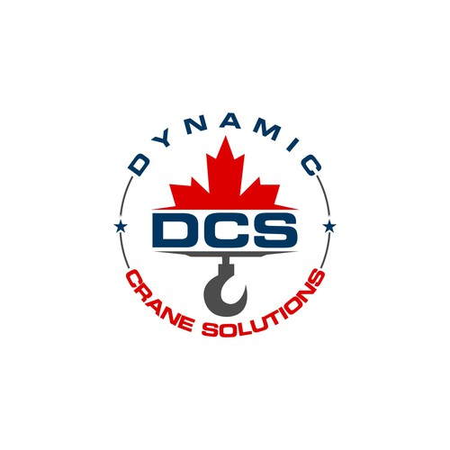 a creative logo for a crane service company