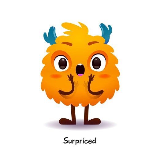 Surpriced Monster character