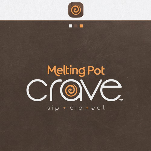 sleek contemporay logo design for melting pot
