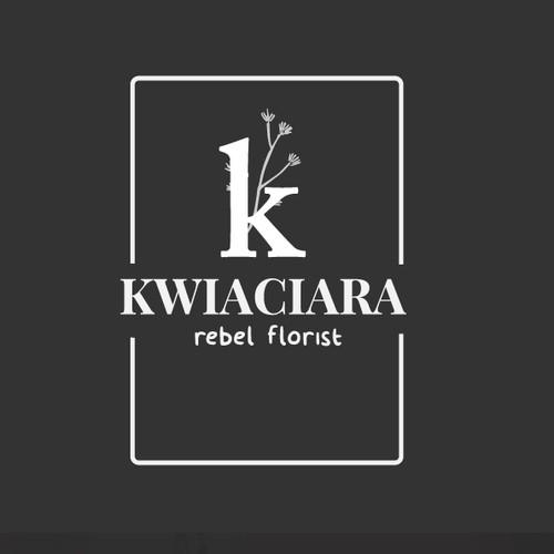 "Logo concept for flowershop ""Kwiaciara"""