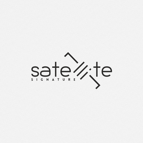 Satellite wordmark logo