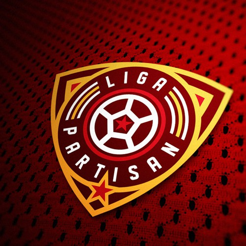 Create a logo for the new world of football: Liga Partisan