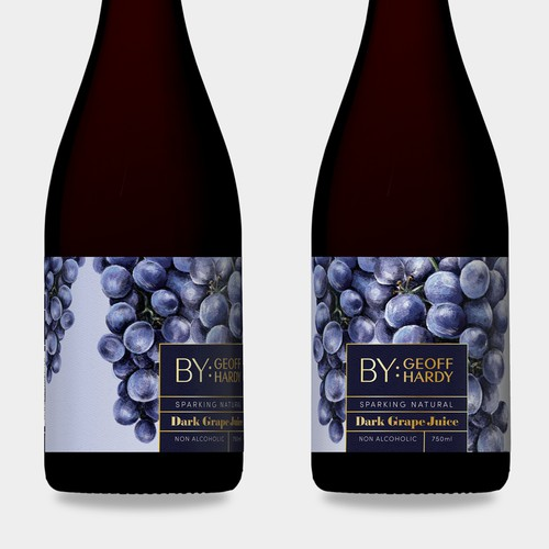 Grape Juice-Illustrated Label Design