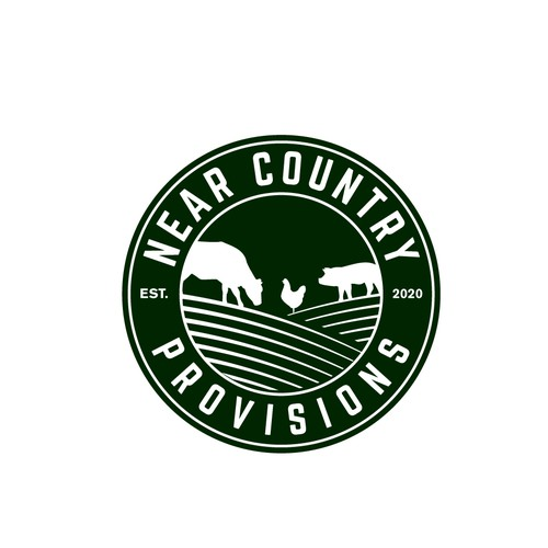 Near Country Provisions Logo Design
