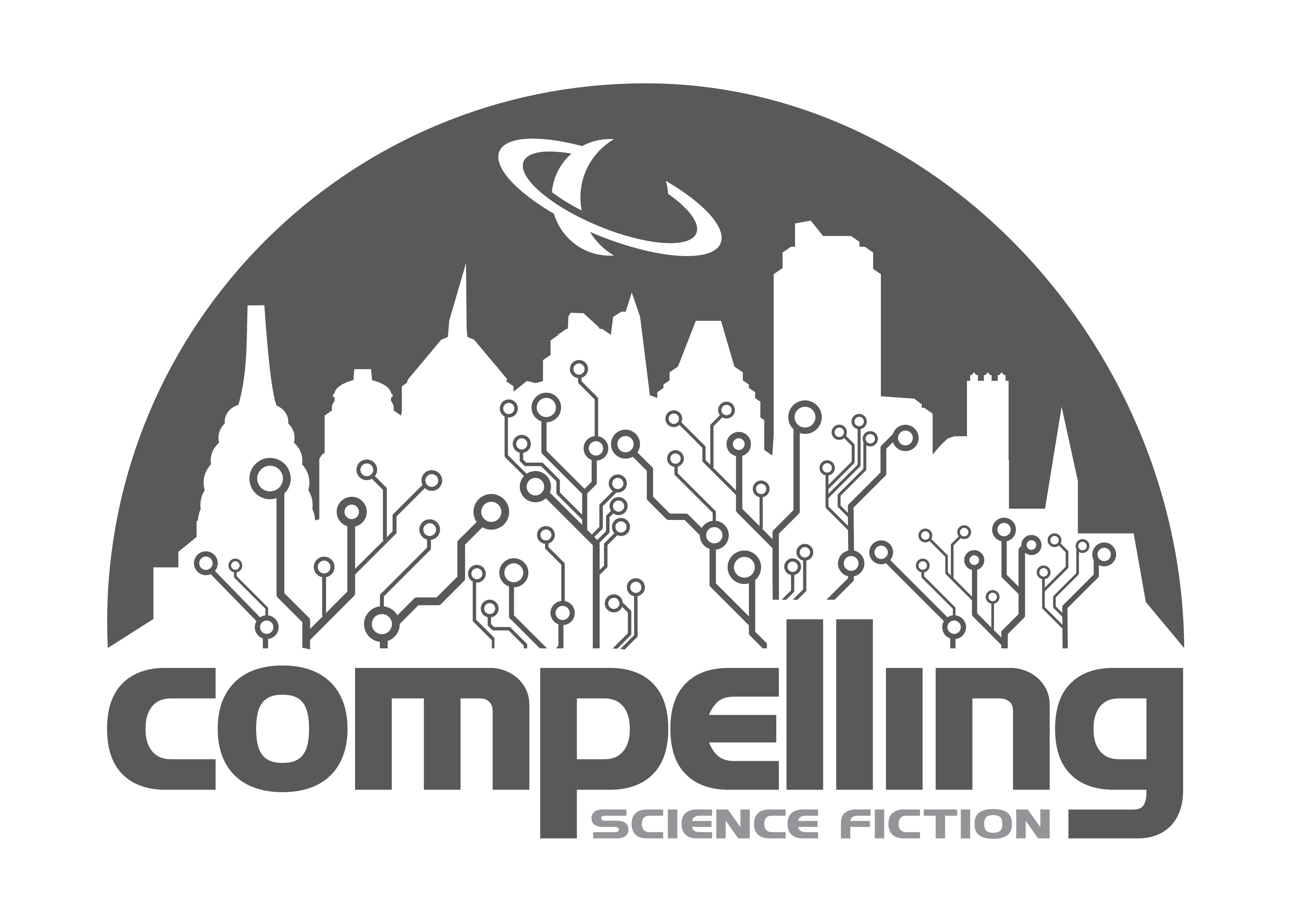 Create an inspiring science fiction magazine logo for Compelling Science Fiction
