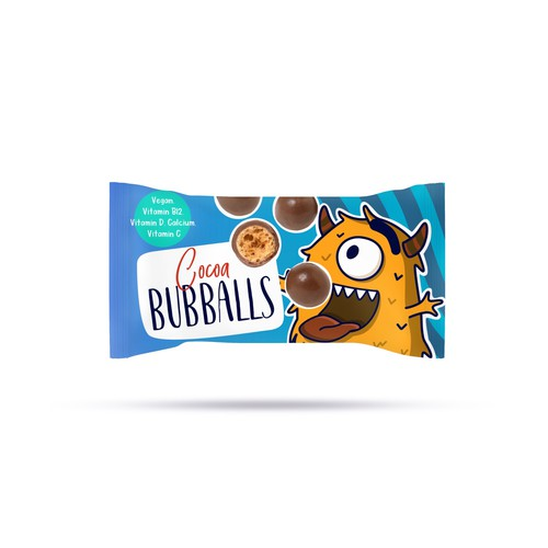 Fun chocolate packaging for snack brand