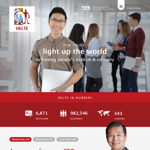 Helte Company Page