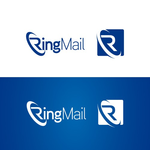 Create a high-tech new logo for the RingMail phone network