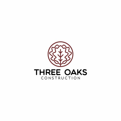 three oaks construction logo