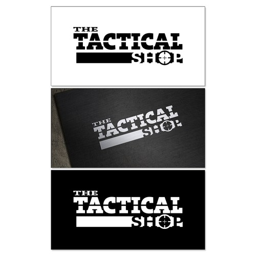 The Tactical Shop - rugged, reliable and resilient military style logo.