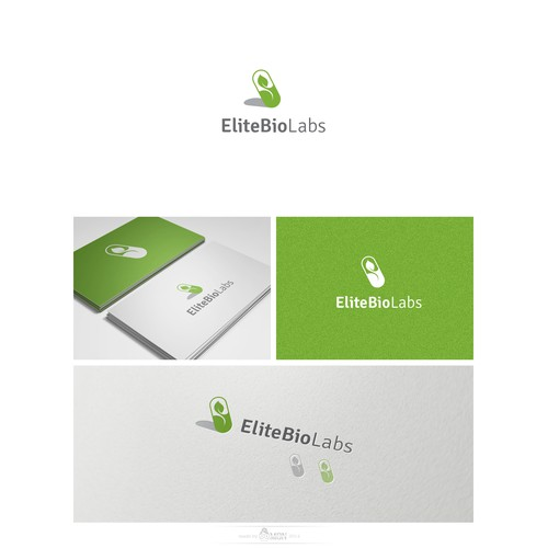 Create a logo to set Elite Bio Labs apart from the supplement manufacturer crowd.