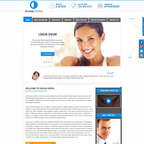 State of the Art new dental practice patient website...Coulon Dental website