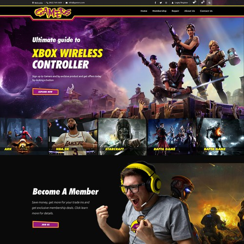 Gaming e-commerce site 1 to 1 project