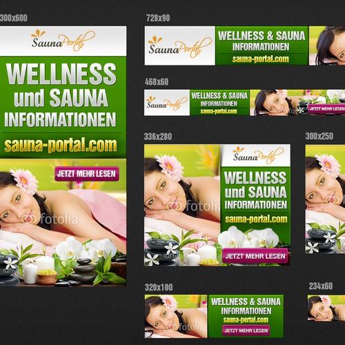 Banner für Sauna und Wellness Portal