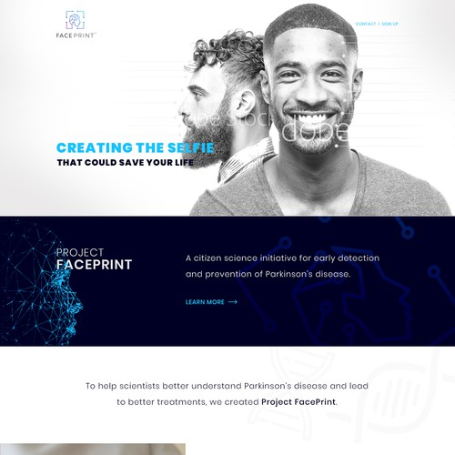 Project FacePrint Landing Page