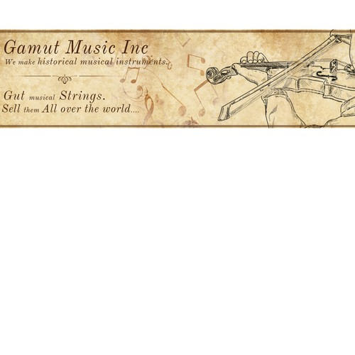 Website/Facebook Banner ad to sell gut musical strings