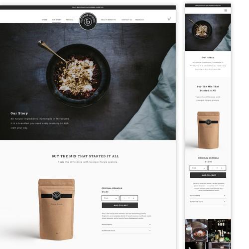 Granola Website Design