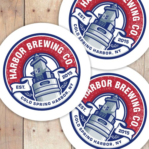 Brewing company logo design