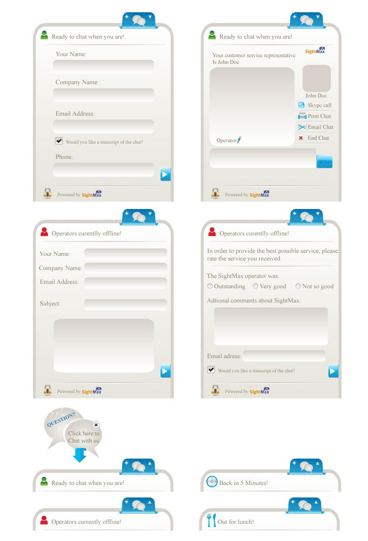 Create the next design for SightMax.com