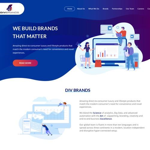 Illustration Based Home Page Design