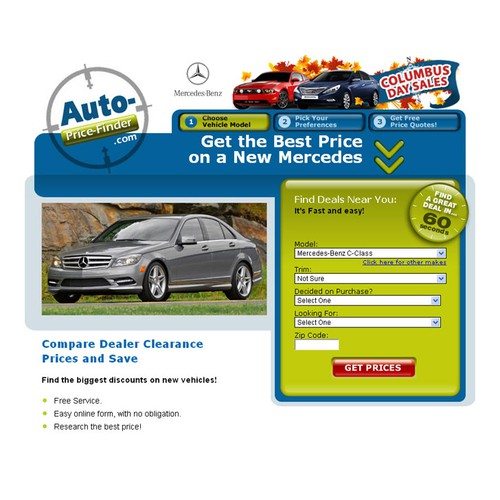 Design Fall Theme/Columbus Day Banner for Car Site