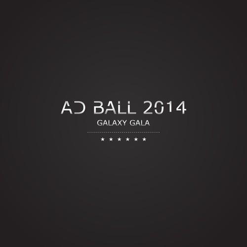 Create a futuristic logo for the Ad Ball 2014 Galaxy Gala