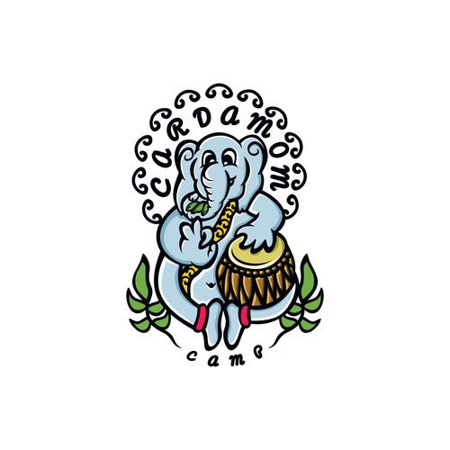 elephant mascot stlye