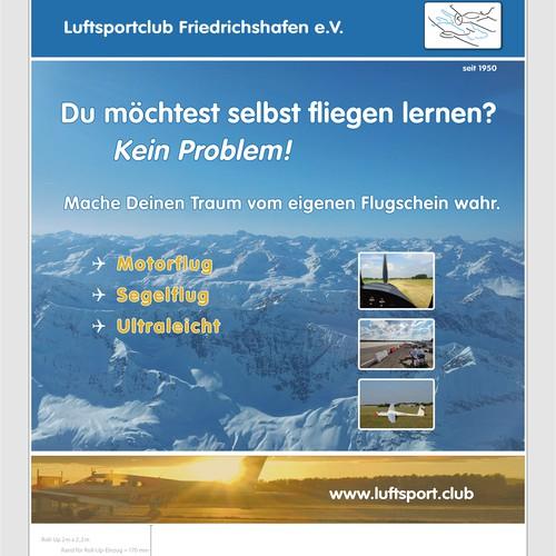 """Luftsportclub Friedrichshafen """"to be a pilot"""" Flugschule bildet Sie aus"""