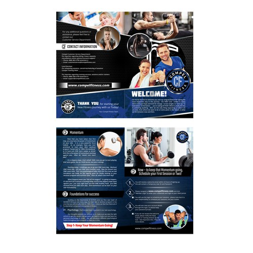 bi fold brochure for compel fitness