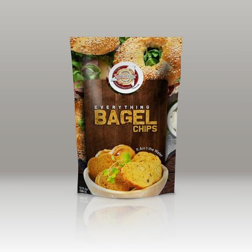 Bagel Chips Packet Design