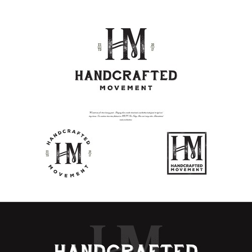 Rustic logo for a Handcrafted Movement