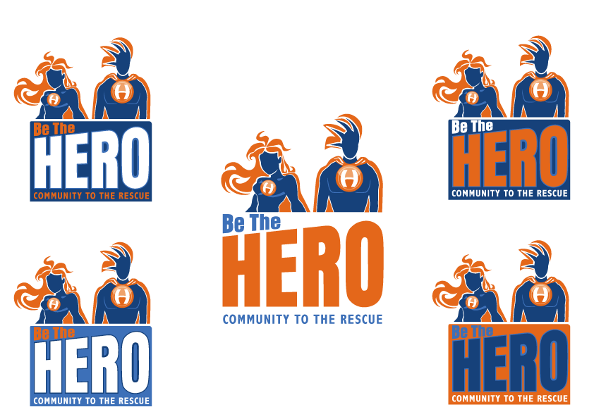"Amazing logo for a new facebook application is needed: ""Be the Hero"""