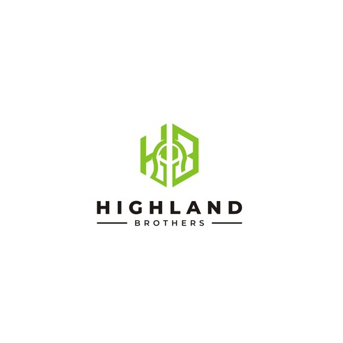 Logo of interlinking letters H and B (for Highland Brothers)