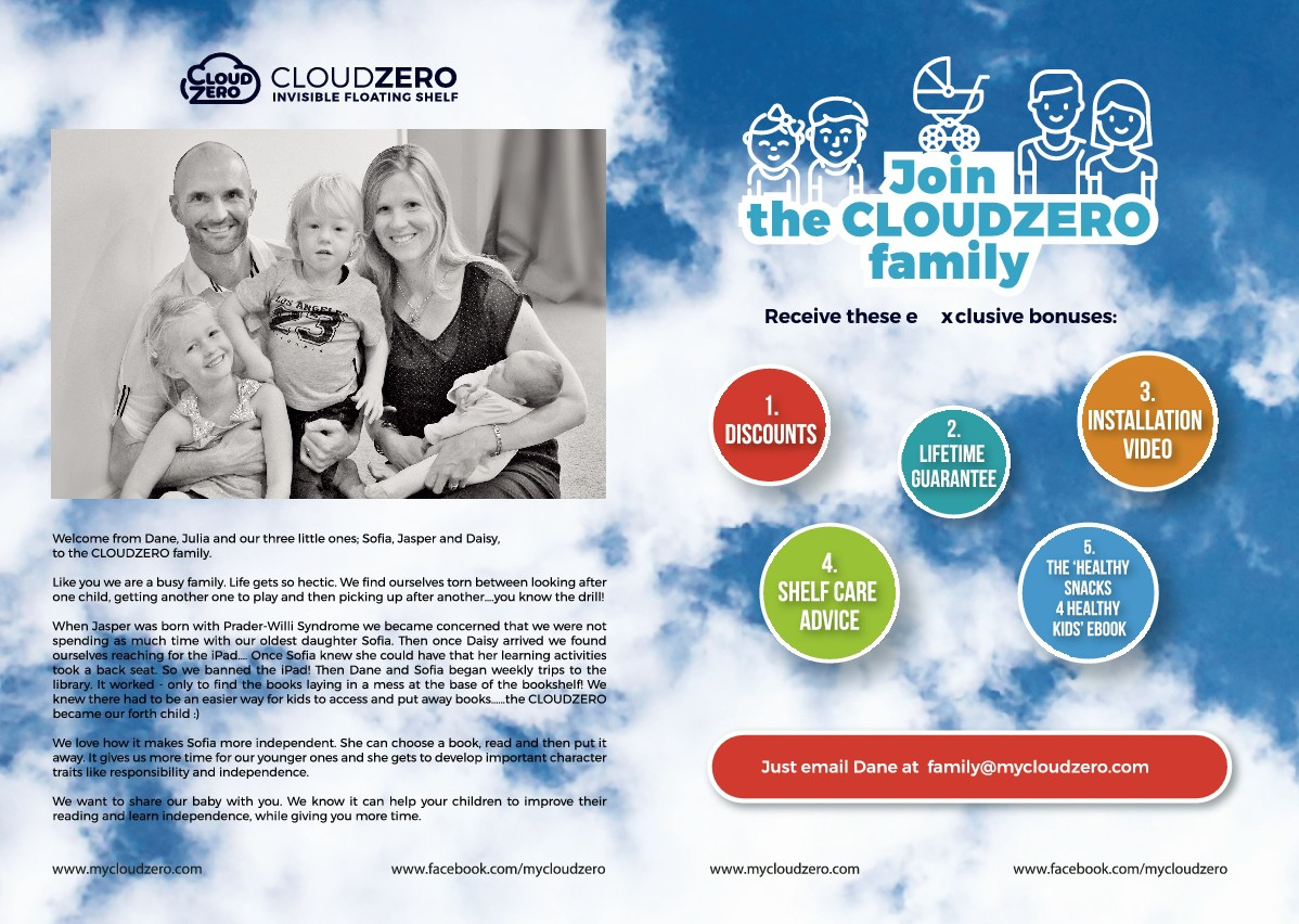 CloudZero - leaflet edit, amendments to the layout