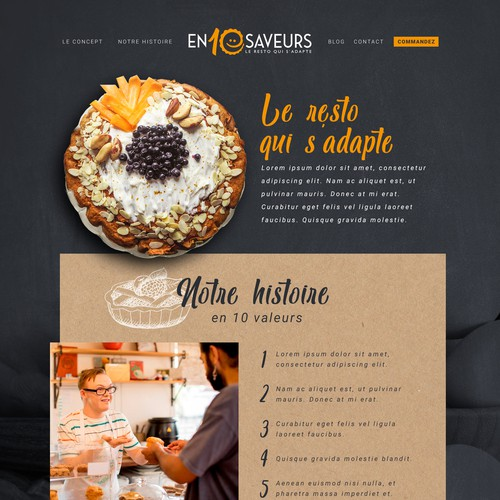 Webdesign for a pie shop