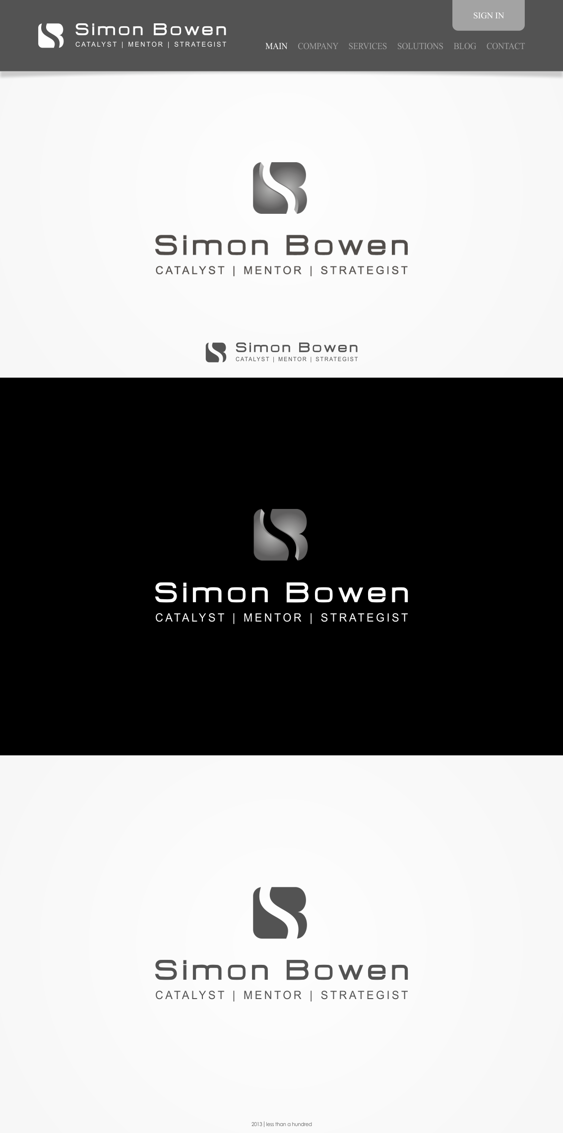 Help Simon Bowen - or you can use the initials S B with a new logo