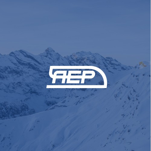 AEP Train Express Typographic Logo