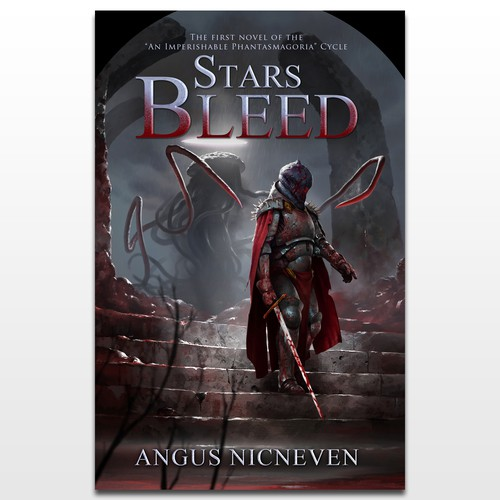 "Cover design for novel ""Stars Bleed"""