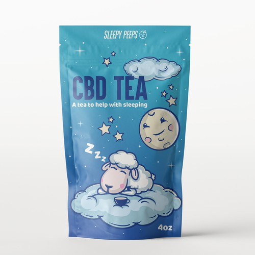 Product packaging for CBD Tea