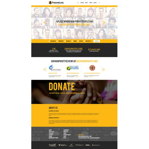 refreshed web design for Grassroots