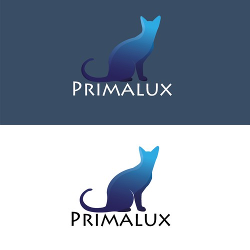 Logo for russian blue cat cattery