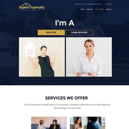 Agent Ingenuity website design