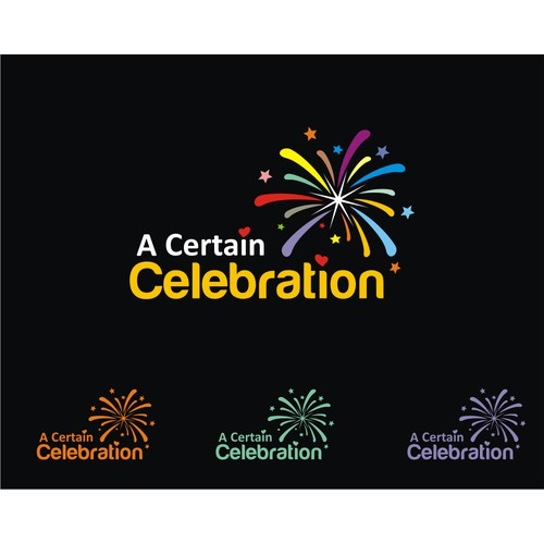 I'm a Marriage Celebrant needing a logo for my business name of 'A Certain Celebration'