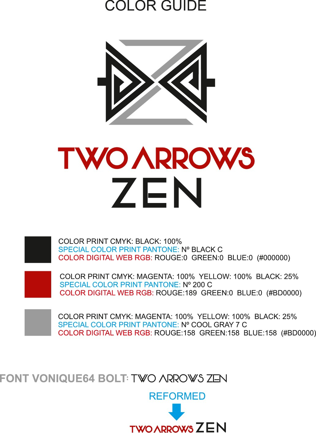 Artistic Arrowheads Meeting in the Air for Two Arrows Zen