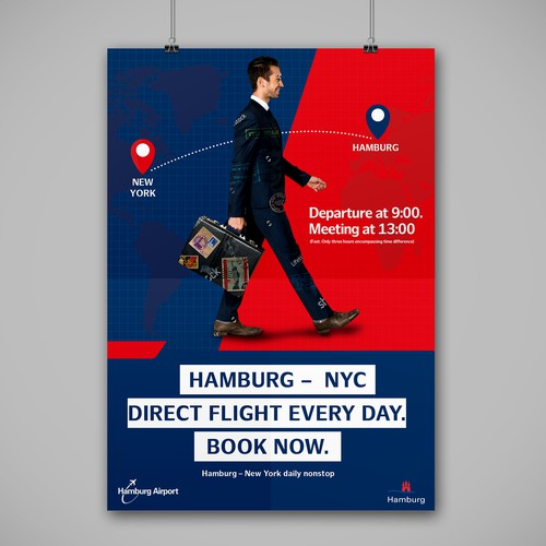 poster for hamburg airport